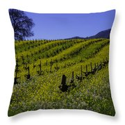 Tree  In Vineyards Throw Pillow