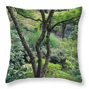 Tree Japanese Garden Throw Pillow