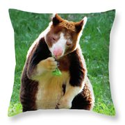 Tree Kangaroo Throw Pillow