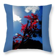 Tree Leaves Red 061814a Throw Pillow