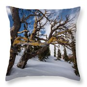 Tree Life In Winter Throw Pillow