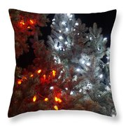 Tree Lights Throw Pillow