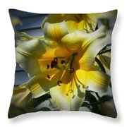 Tree Lily Throw Pillow