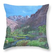 Tree Line Oasis  Throw Pillow