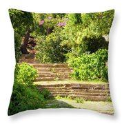 Tree Lined Steps Throw Pillow