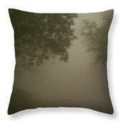 Tree Lined Streets Of Marsabit Throw Pillow