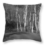 Tree Loop B And W Throw Pillow