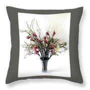 Tree Magnolias Throw Pillow