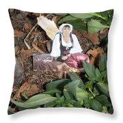 Tree Maiden Throw Pillow
