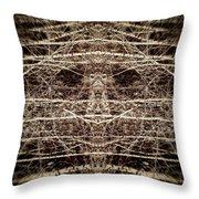 Tree Mask Throw Pillow