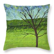 Tree No Leaves Throw Pillow