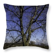 Tree Of Blue Throw Pillow