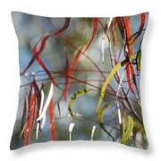 Tree Of Contrasts Throw Pillow