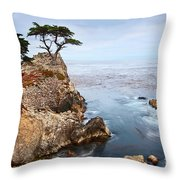 Tree Of Dreams - Lone Cypress Tree At Pebble Beach In Monterey California Throw Pillow