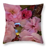 Tree Of Flowers Throw Pillow