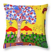 Tree Of Freedom And Glory Throw Pillow