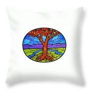 Tree Of Grace - Autumn Throw Pillow