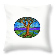 Tree Of Grace - Spring Throw Pillow