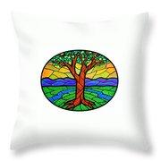 Tree Of Grace - Summer Throw Pillow