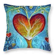 Tree Of Hearts Throw Pillow