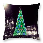 Tree Of Hearts In Green 2 Throw Pillow