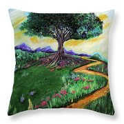 Tree Of Imagination Throw Pillow