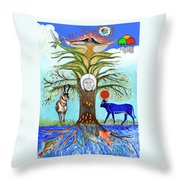 Tree Of Life #5 Throw Pillow