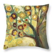 Tree Of Life In Autumn Throw Pillow by Jennifer Lommers