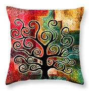 Tree Of Life Throw Pillow by Jaison Cianelli