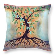 Tree Of Life Throw Pillow by Kathy Braud