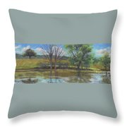 Tree Of Life Landscape Throw Pillow