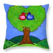 Tree Of Love Throw Pillow by Caroline Sainis