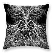 Tree Of Nature Evolving Symmetry Pattern Throw Pillow