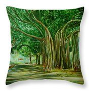 Tree Old Guy Throw Pillow