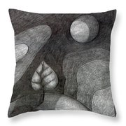 Tree On Moon  Throw Pillow