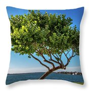 Tree On The Bay Throw Pillow