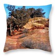 Tree On Titan Road Throw Pillow