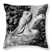 Tree Owl  Throw Pillow