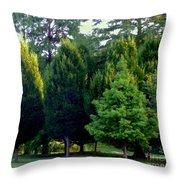 Tree Personalities Throw Pillow