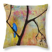 Tree Print Triptych Section 3 Throw Pillow