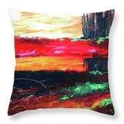 Tree Reflected Throw Pillow