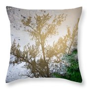 Tree Reflection Upside Down 1 Throw Pillow