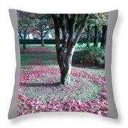 Tree Ring Throw Pillow