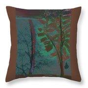 Tree Shadows At Midnight Throw Pillow
