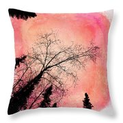 Tree Silhouettes I Throw Pillow