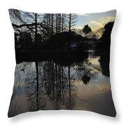 Tree Silhouettes Throw Pillow