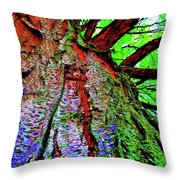 Tree Skin Throw Pillow
