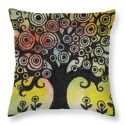 Tree Song Throw Pillow