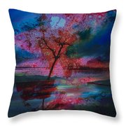 Tree Splat Fragmented Throw Pillow