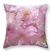 Tree Spring Pink Flower Blossoms Art Print Baslee Troutman Throw Pillow